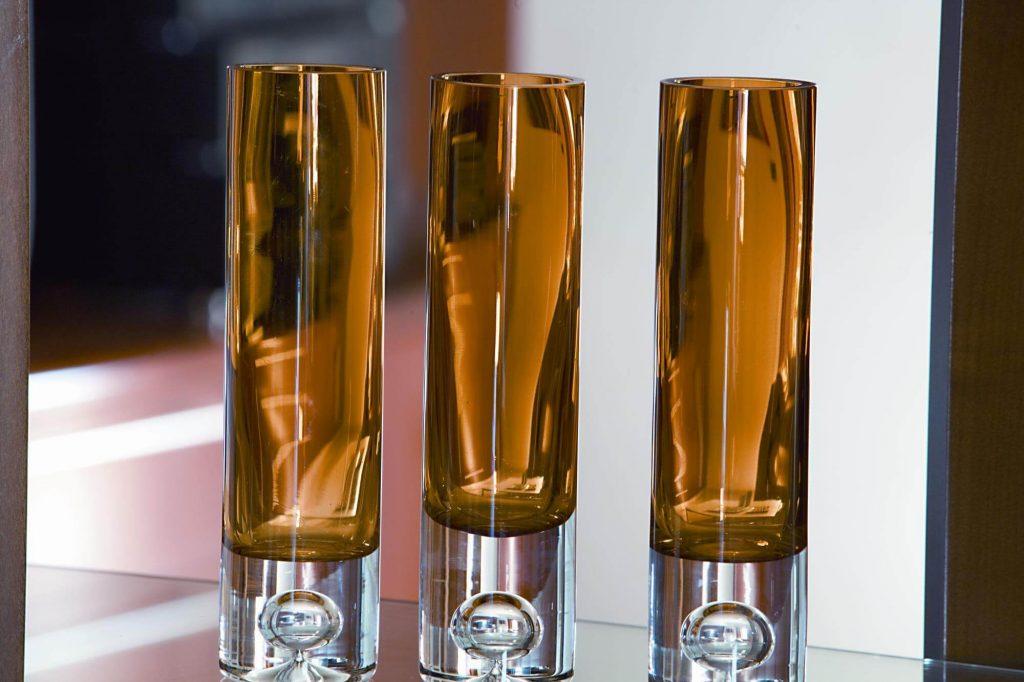 Three glasses.